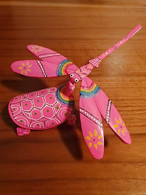 Dragonfly And Turle Set - Pink