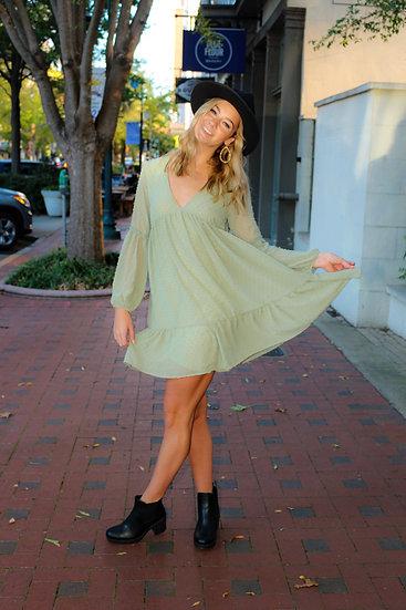 Sage Me Dress