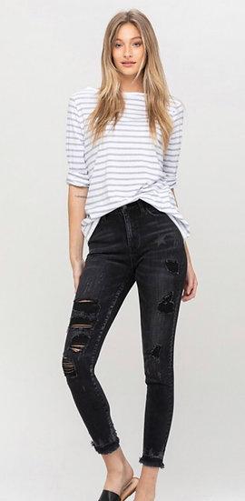 Vervet by Flying Monkey Black Star Skinny Jeans