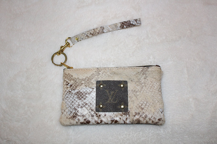 Upcycled Louis Vuitton Wristlet