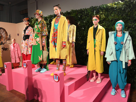 Fashion brands Loom Loop presented their fall collections on the inaugural day of London Fashion Wee