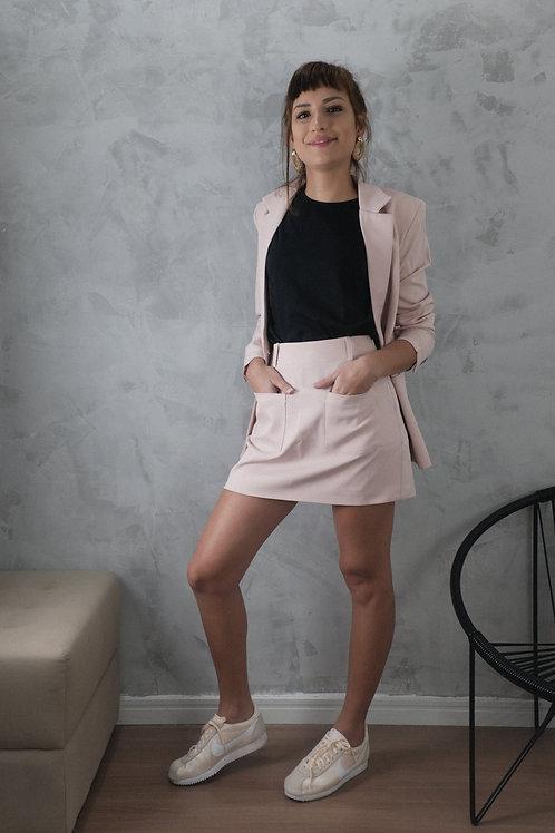 mini saia rosa chá