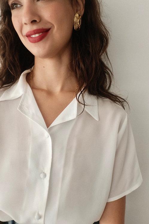 Camisa seda pura offwhite