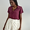Thumbnail: Camisa seda pura roxa