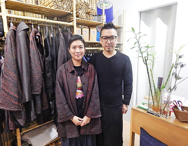 Designers Polly Ho and Andy Wong.