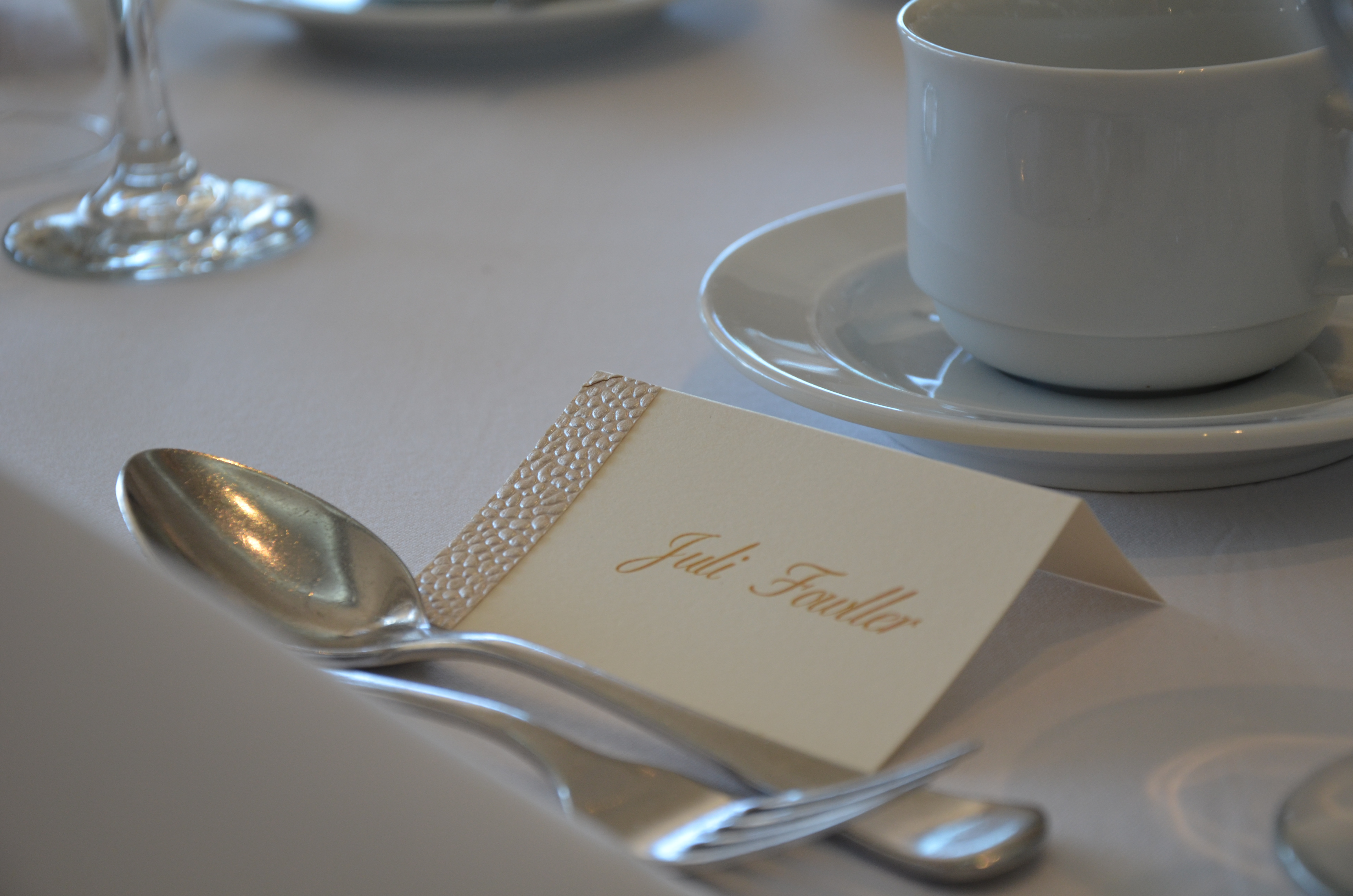 Gold Pebble Place Card