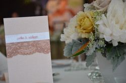 Pink Lace Table Menu Card