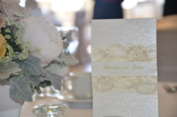 French Lace Table Menu Card