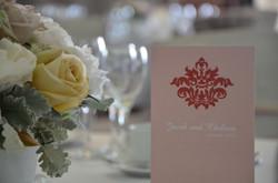 Ornate Table Menu Card