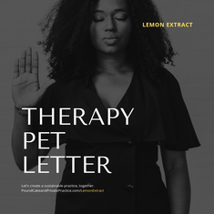 Therapy Pet Letter