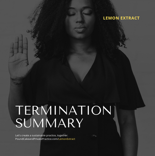 Termination Summary