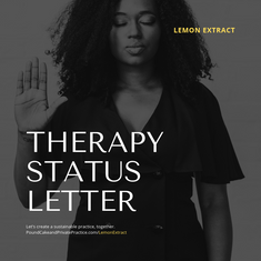 Therapy Status Letter