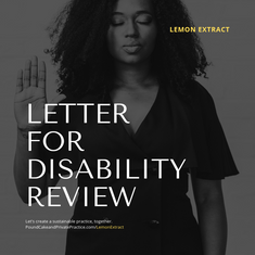 Letter for Disability Review