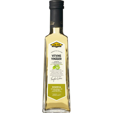 En vitvinsvinäger flaska