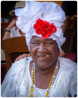 Lady on Streets of Havana