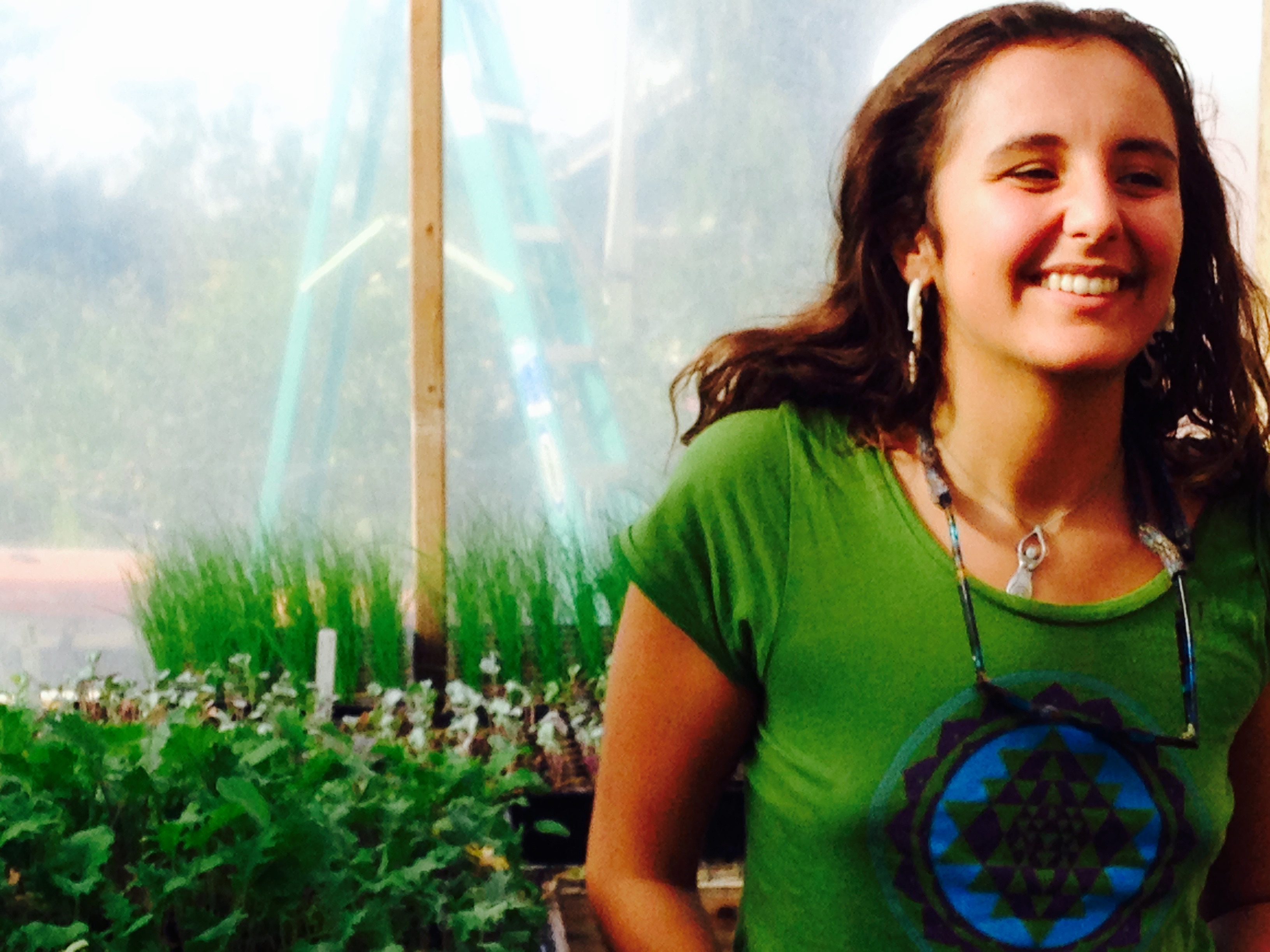 Anahata in the Greenhouse!