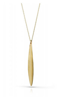 14K Gold Willow Necklace (Silver Version $65)