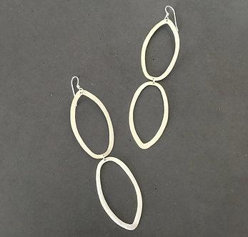 Sterling Silver Ellipse Earrings
