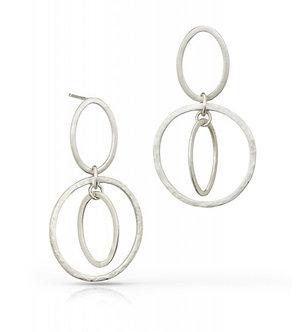 Circle Oval Earrings