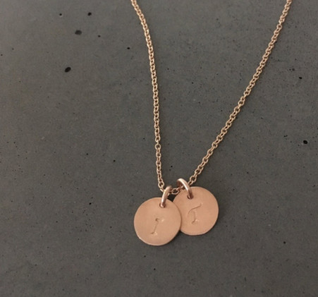 Two 14K Rose Gold pendants