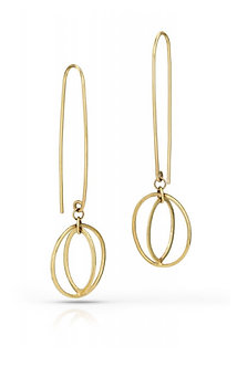 14K Yellow Gold Concentric Circles