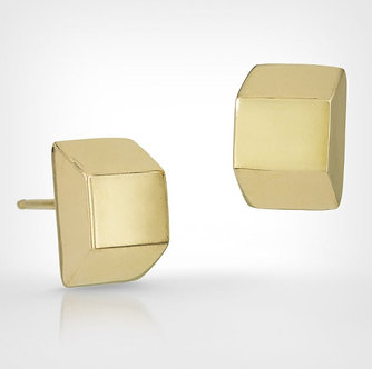 14K Gold Trapezoid Earrings (Silver Version $105)
