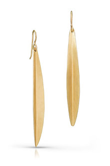 14K Gold Willow Earrings (Silver Version $60)
