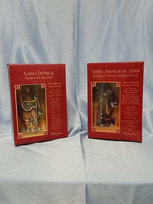 """4"""" Patron Saints statues"""