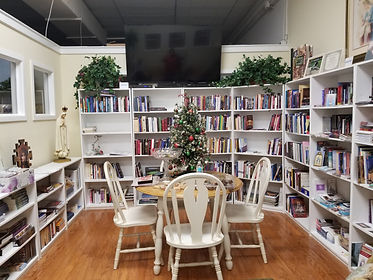 Catholic bible study center offers classes and group meetings to help christians grow in their faith.  Books and videos are available for  purchase or rent.