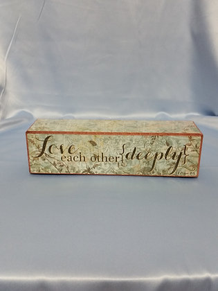 "Faith Scripture Blocks - ""Love Each Other Deeply"""