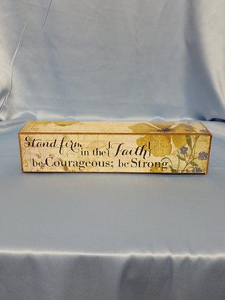 """Faith Scripture Blocks - """"Stand Firm in the Faith"""""""