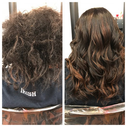 Hair style transformation