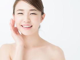 attractive asian woman skin care image o