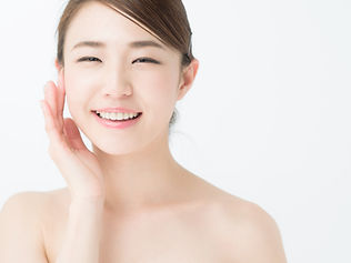 attractive asian woman skin care image o