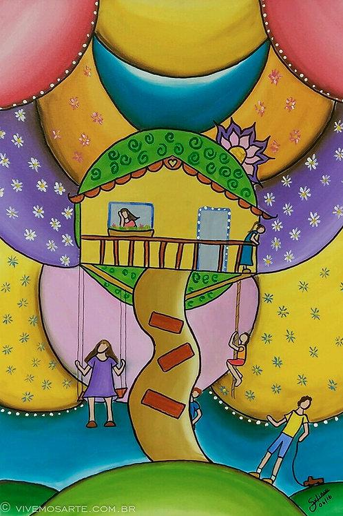 A casa na árvore - 60 x 40 cm - por Juliano Silva