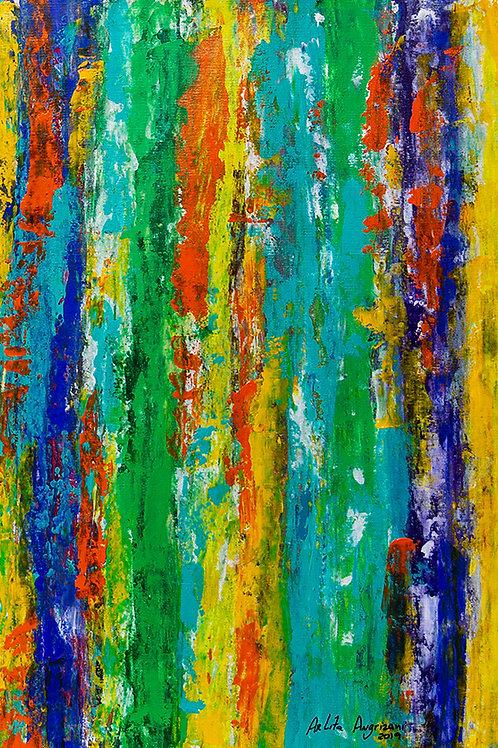 O muro I - 50 x 40 cm - por Arlita Angrizani