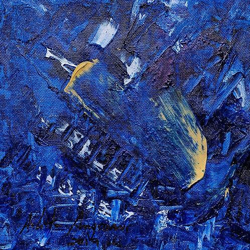 Série Azul II - 40 x 40 cm - por Arlita Angrizani