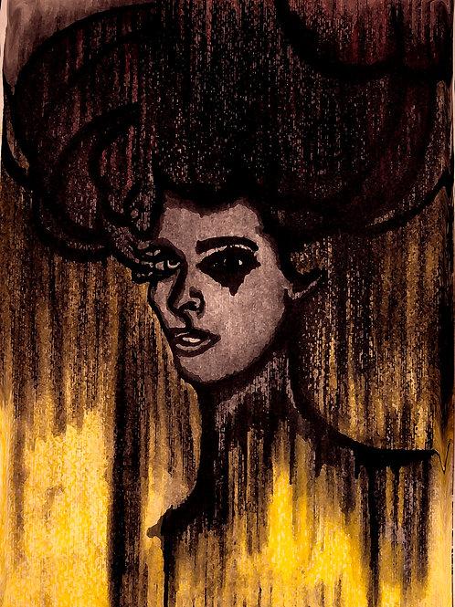 Only Girl - 40 x 30 cm - por Tarcila Gama