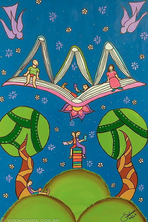 O mundo encantado da Literatura - 60 x 40 cm - por Juliano Silva