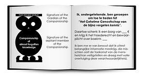 Kaartje bij aankoop boek Comapnionshipko