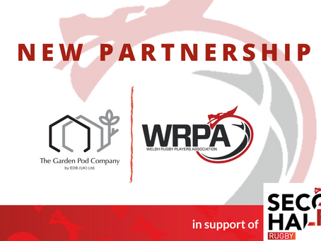 The Welsh Rugby Players Association (WRPA) and The Garden Pod Company announce new partnership.