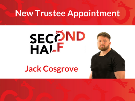 Former player, Jack Cosgrove appointed Trustee of charity, Second Half Rugby.
