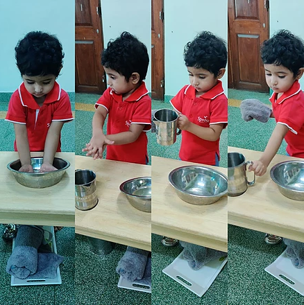 Precise movements in Hand Washing