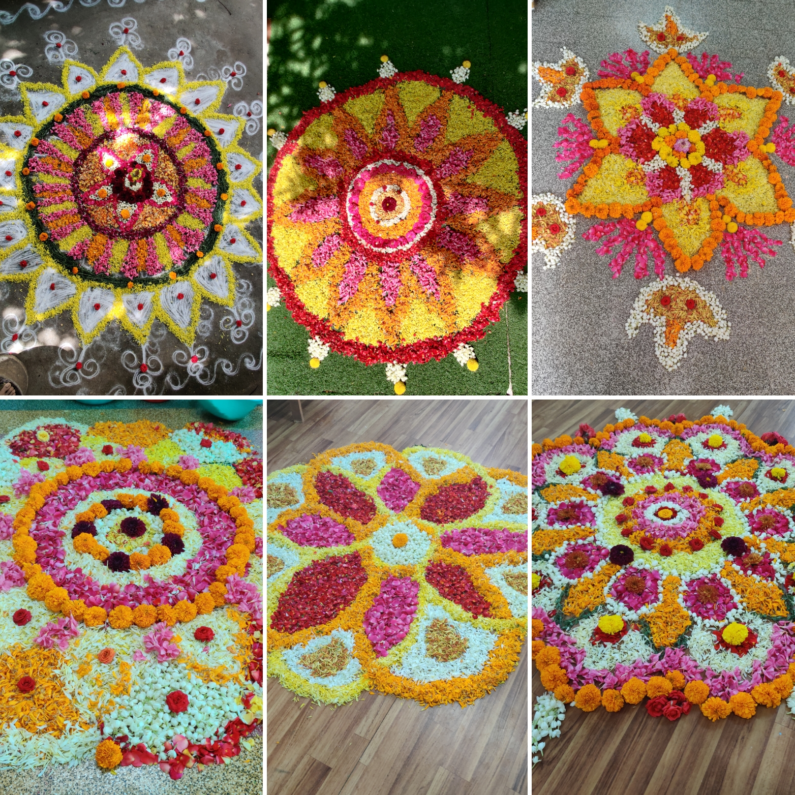 Pretty Pookolams done at our environment