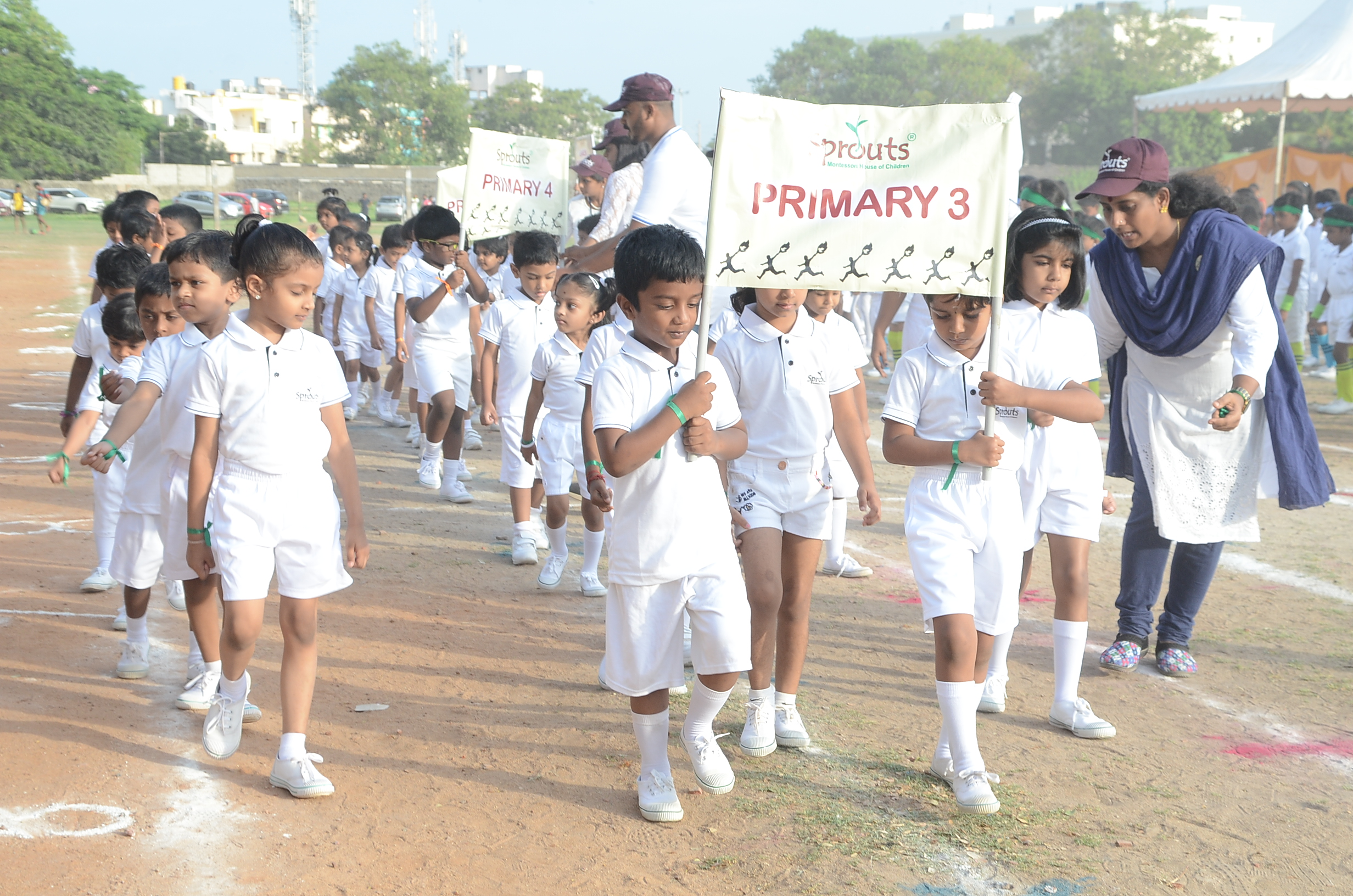 March Past by Primary 3