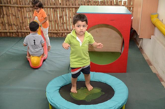 Jumping helps children coordinate balanc