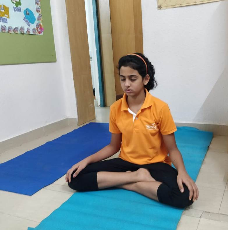 Ikshika in deep meditation