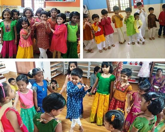 Children enjoying the Krishna Jayanthi c