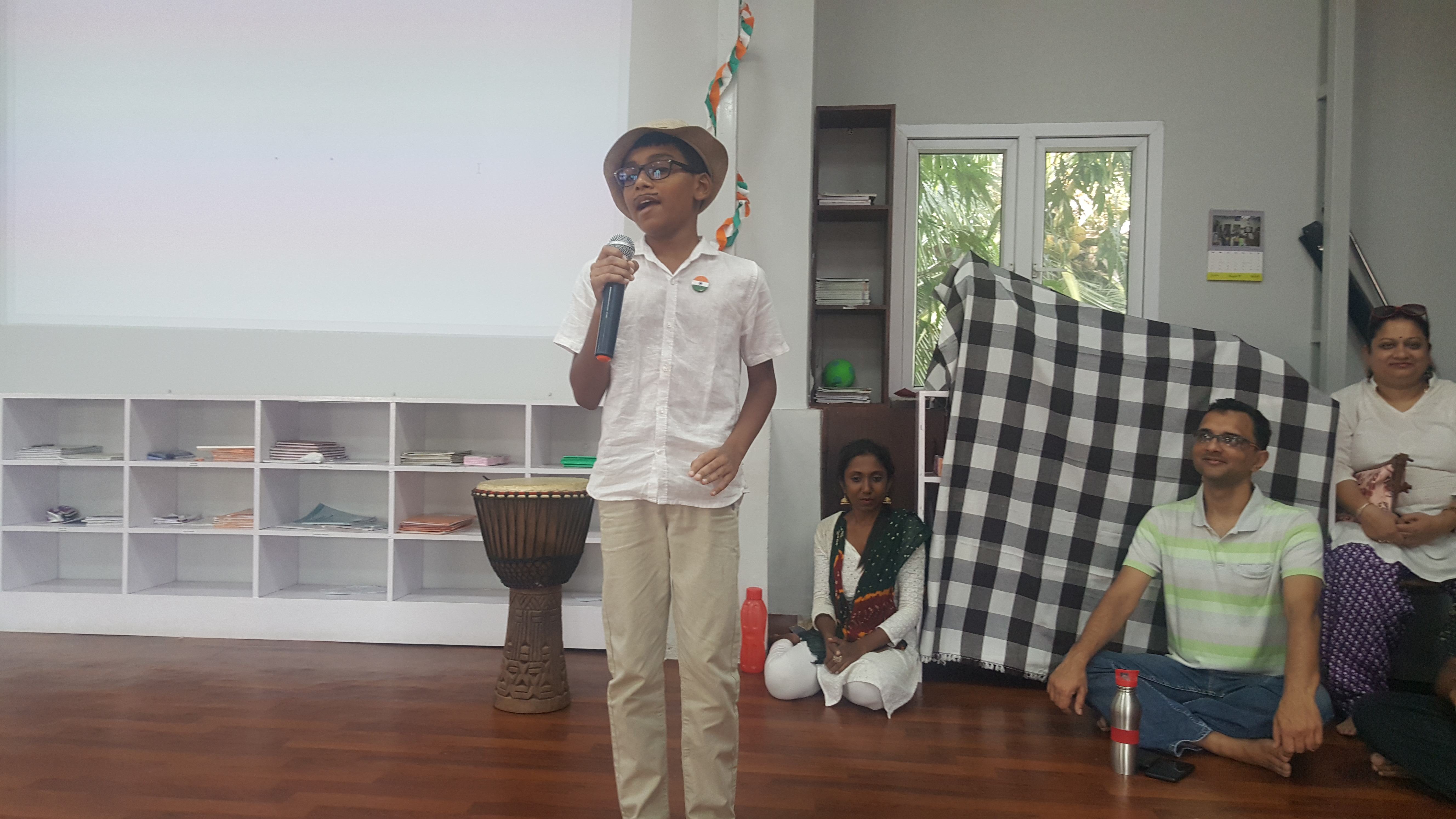 Aaroush enacting the role of Bhagat Sing