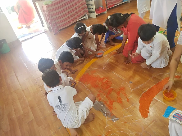 Rangoli Making on Independence Day